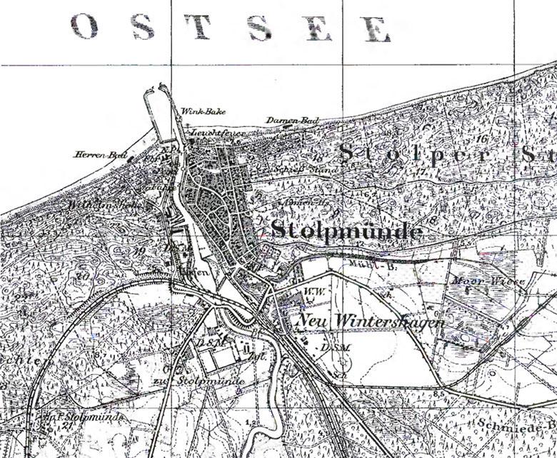 Pommern Karte Vor 1945.überlauf In Pommern